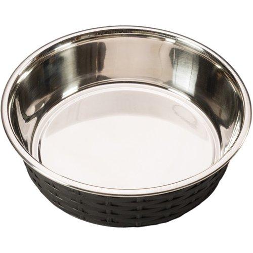 Soho Basket Weave Dish 30oz-Black