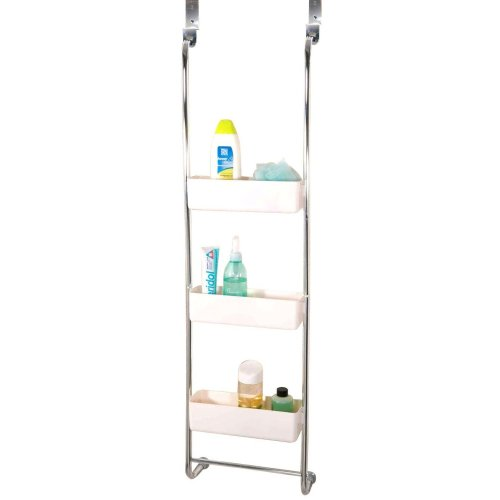 3 Tier Chrome Bathroom Hanging Rack | Triple Basket Shower Caddy