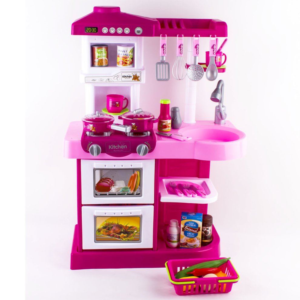 toy kitchen food accessories deao children play kitchen set with play food and 6316