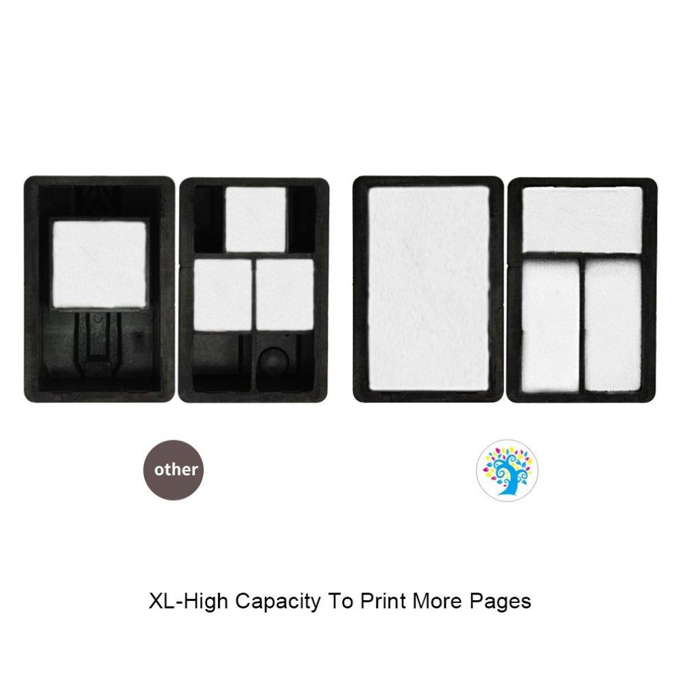 H&BO TOPMAE Remanufactured HP 301XL Ink Cartridges For HP Deskjet 3050  3050A 2544 2542 Envy 4500 4502 4507 Officejet 2620(2Black+1Tri-Colour)
