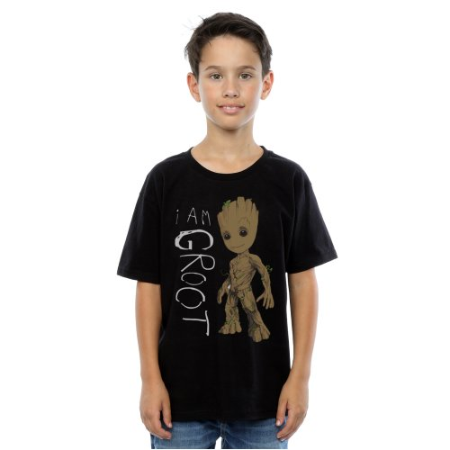 Marvel Boys Guardians Of The Galaxy I Am Groot Scribbles T-Shirt