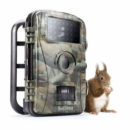 Sollona Wildlife Trail Camera 12MP 1080P Trap The Latest 940nm IR LEDs Great Night Vision Effect Motion Senor Activated IP66 Waterproof for Outdoor...