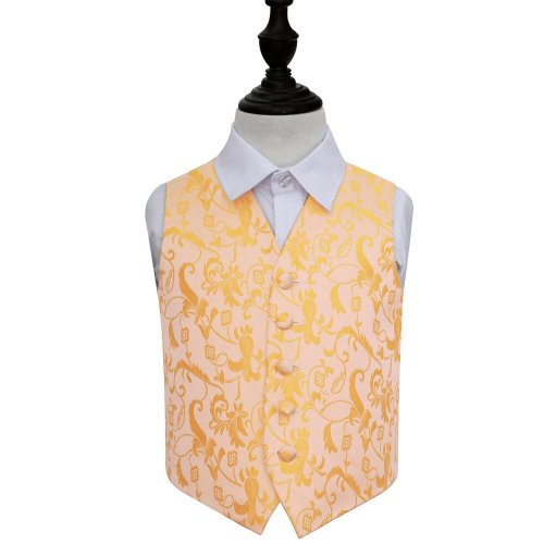 Gold Floral Wedding Waistcoat for Boys 34'