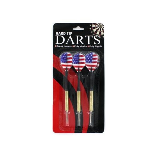Bulk Buys KB822-72 Hard Tip Darts Strong and Durable - Pack of 72