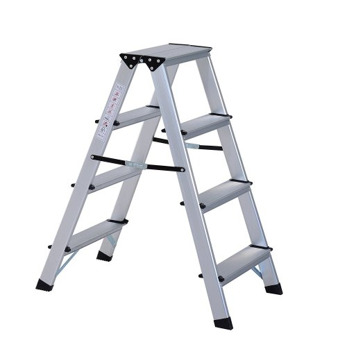 Homcom Aluminium Double Sided Step Ladder Folding (4 Steps)
