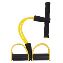 Fitness Equipment Crunches Chest Expander/Yoga Pedals Elastic Rope Yellow