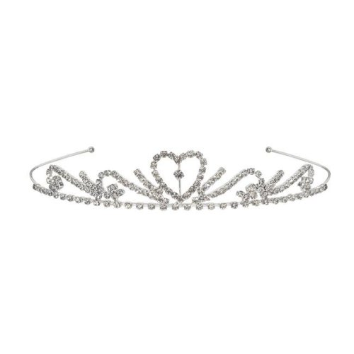 Beistle 60075 Royal Rhinestone Tiara, White - Pack of 6