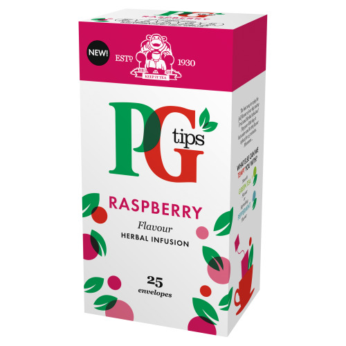 Pg Tips Raspberry Enveloped Tea Bags 25s