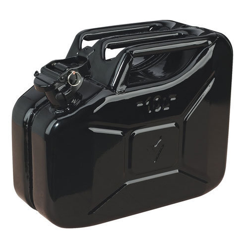 Sealey JC10B 10ltr Jerry Can - Black
