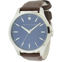 Armani Exchange Dress Leather Mens Watch AX2181