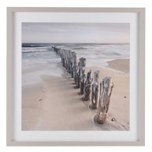 North Sea II Long Groynes Framed Print
