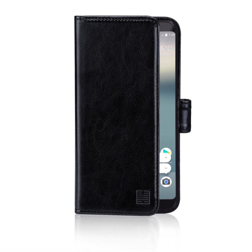 the best attitude d9687 4bd26 32nd Book Wallet PU Leather Flip Case Cover For Google Pixel 2, Design With  Card Slot and Magnetic Closure - Black