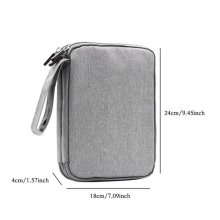 Travel Mobile Kit Capacity Storage Bag Digital Gadget USB Data Cable