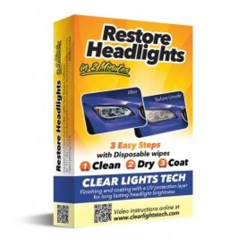 HEADLIGHT RESTORE WIPES WORKS IN 2 MINUTES