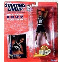 Tim Duncan Action Figure, in San Antonio Spurs Uniform - 1997 Starting Lineup 10th Year Edition Extended Series NBA Basketball