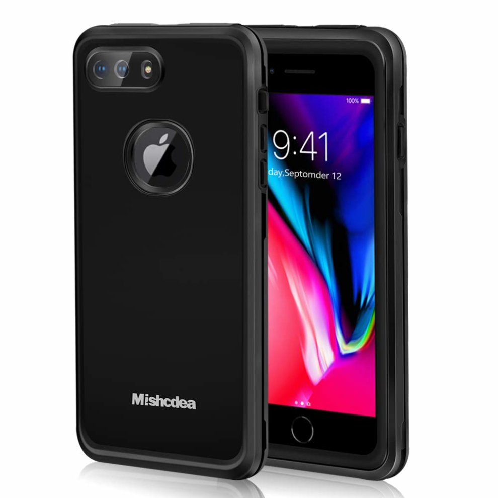 newest 0d6d2 f5fe1 Mishcdea for iPhone 7 Plus iPhone 8 Plus Waterproof Case Built in Screen  Protector Shockproof Dustproof Full Body Extreme Heavy Duty Protector...