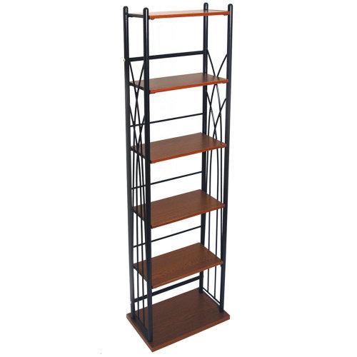 DAKOTA - 100 DVD Blu-ray / 150 CD Media Storage 5 Tier Tower Shelves - Black
