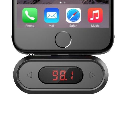 FM Transmitter, Doosl® 3.5mm FM Transmitter Radio Adapter Hands-free Calling Wireless Radio Car Kit, Compatible with iPhone, iPad, iPod, Samsung...