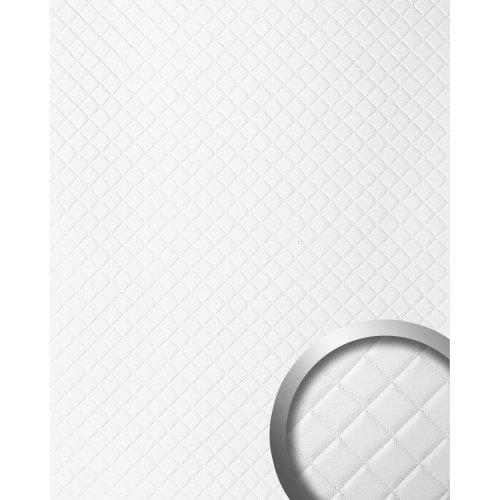 WallFace 15041 ROMBO Wallpanel self-adhesive Leather plaid white 2.6 sqm