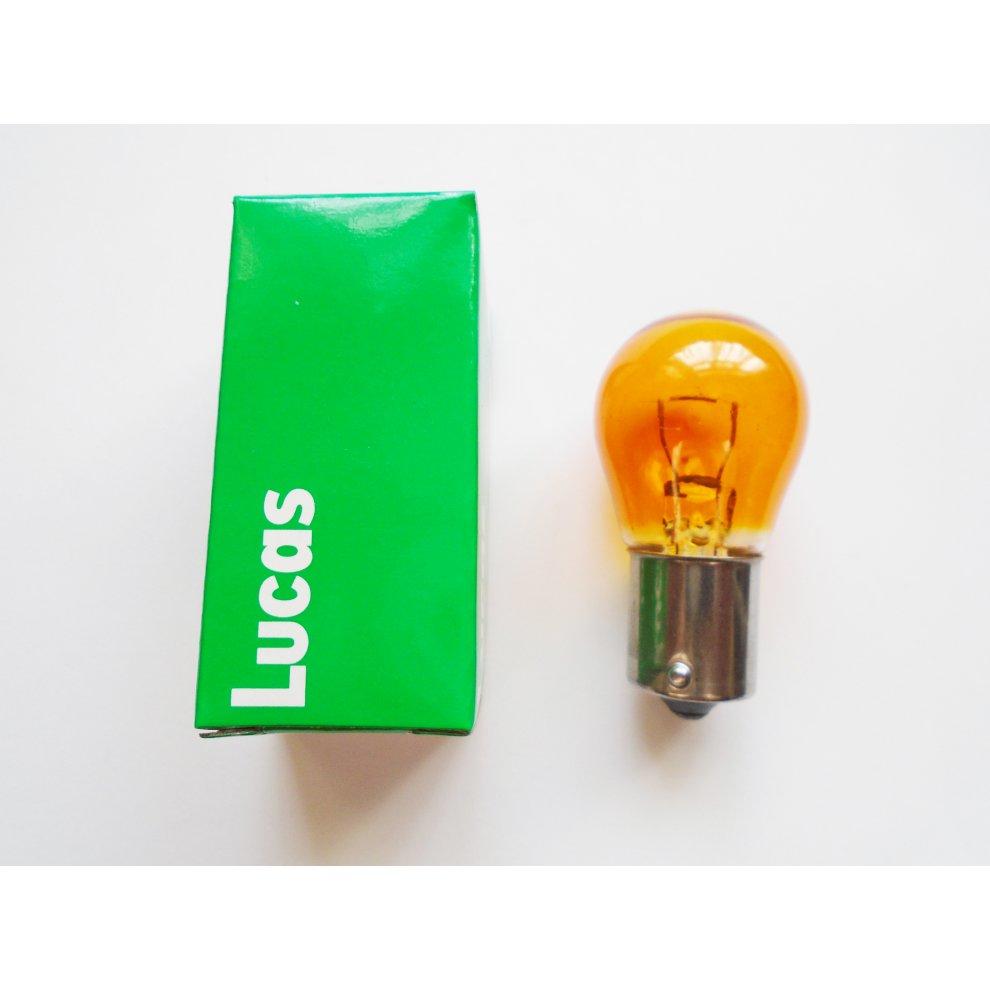 LUCAS LLB343 BA15S 382 AMBER  CAR INDICATOR SIGNAL TURN LIGHT BULBS LAMP 12V 21W