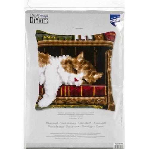 Vervaco V0146409 Needlepoint Kit - Cat Sleeping