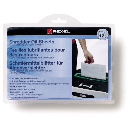 Rexel Shredder Oil Sheets (12) paper shredder accessory