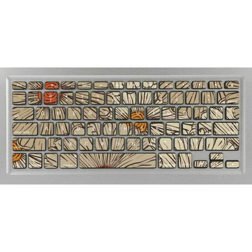 Flower Pattern Keyboard Stickers / Decals For MacBook (Air 11 Inch Retina)
