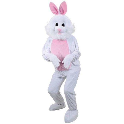 White Easter Bunny Rabbit Mascot Fancy Dress Costume
