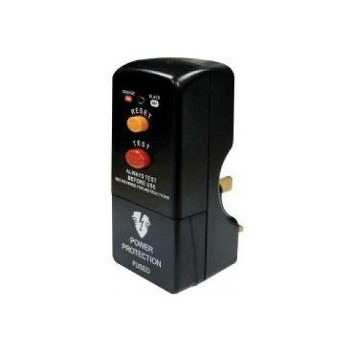 Masterplug PRCDKB Non-Latching RCD Safety Plug - Black