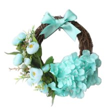 Artificial Wreath Hanging Rattan Garland Door Wreath Wedding Decor
