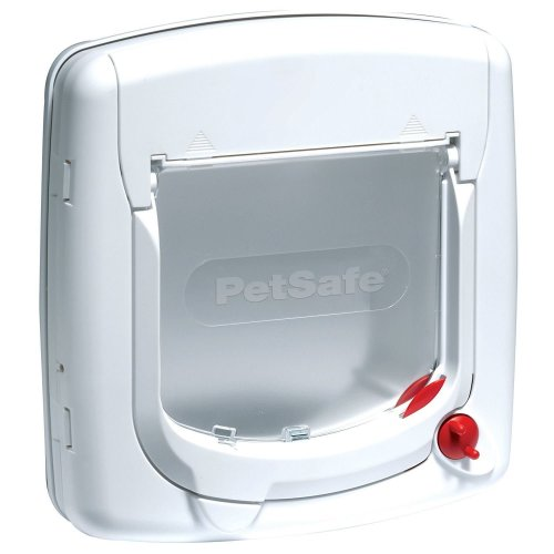 PetSafe Staywell Deluxe White Manual Cat Flap | 4-Way Locking Cat Flap