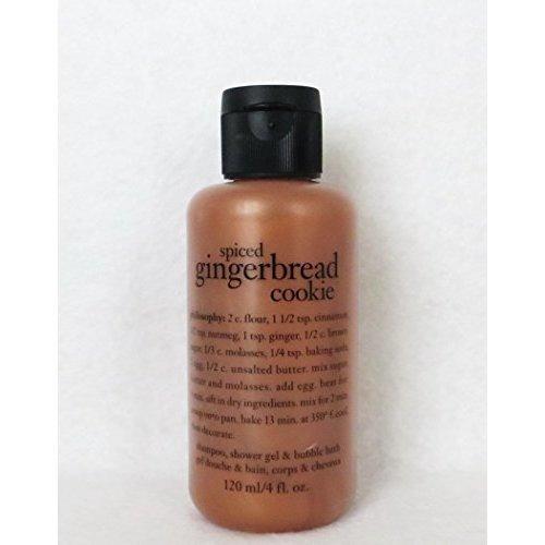 Philosophy Spiced Gingerbread Cookie Shampoo Shower Gel & Bubble Bath 120ml 4oz
