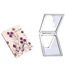One Portable Princess Mirror Vanity Mirror Little Makeup Mirror 8x6x1CM (Blue Butterfly)