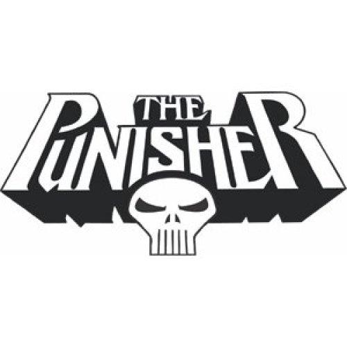 Sticker - Marvel - Punisher - Skull New Rub-Ons s-3307-r