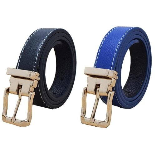 2017 Big Sale Brand Designer Children Faux Leather Belts With Removeable Gold Buckle Jeans Belts Straps For Boys Girls