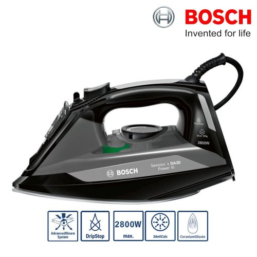 Bosch TDA3021GB Sensixxx Power III Steam Iron 2800W 180g Steam Shot Drip Stop